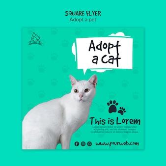 Folleto con tema de adopción de mascotas