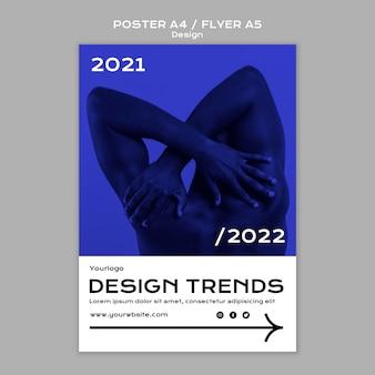 Folleto de tendencias de diseño y plantilla de póster