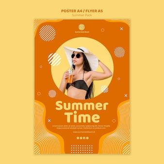 Folleto para vacaciones de verano