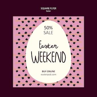 Folleto de venta de fin de semana de pascua