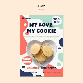 Folleto vertical con galletas
