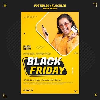Folleto vertical para venta de viernes negro