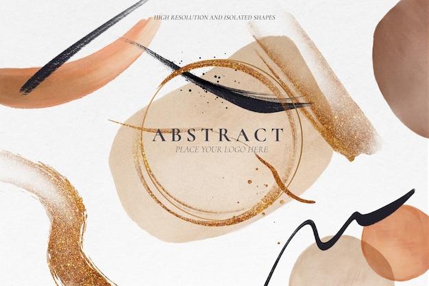 Fondo abstracto con formas pintadas modernas