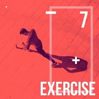 Fondo della posta di instagram con il concetto di esercizio