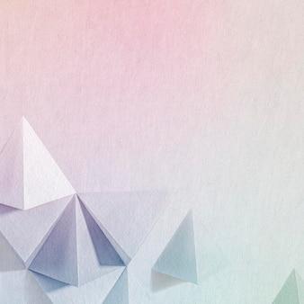 Fondo de diseño de artesanía de papel geométrico