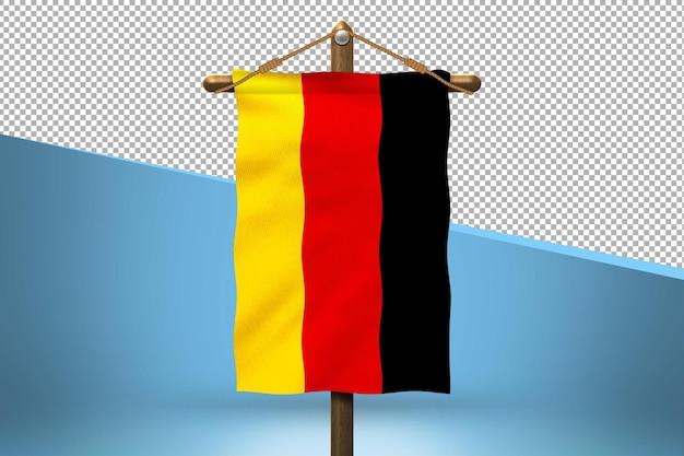 Fondo de diseño de bandera colgante de alemania