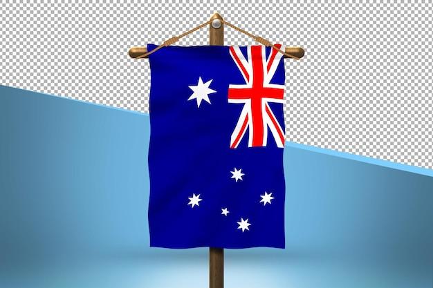 Fondo de diseño de bandera colgante de austria
