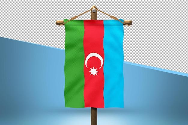 Fondo de diseño de bandera colgante de azerbaiyán