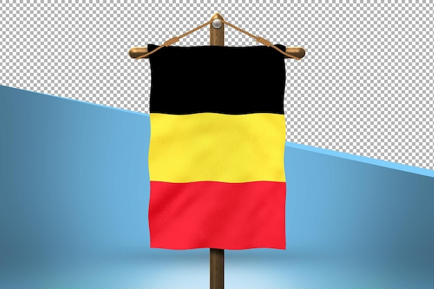 Fondo de diseño de bandera colgante de bélgica