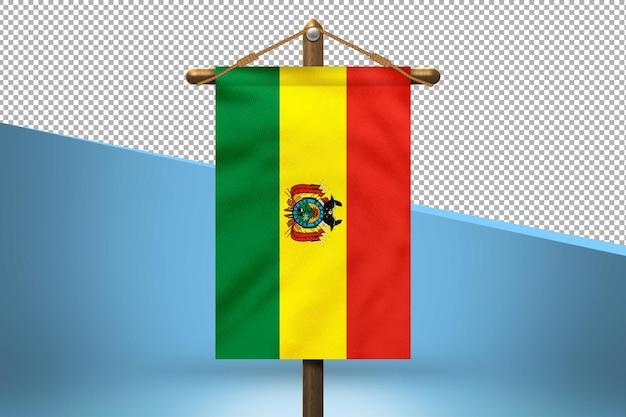 Fondo de diseño de bandera colgante de bolivia