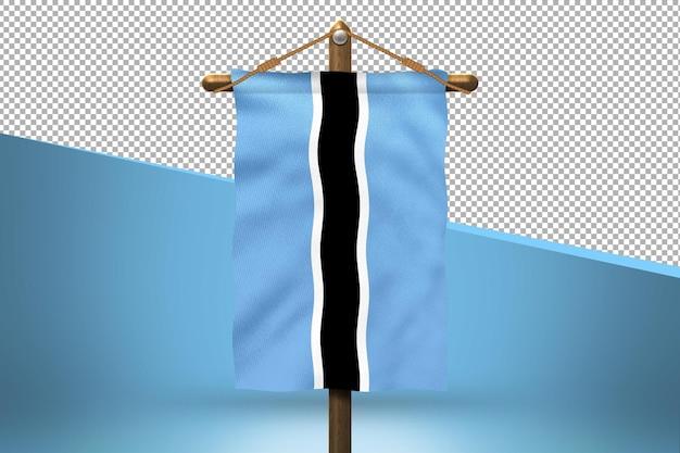 Fondo de diseño de bandera colgante de botswana