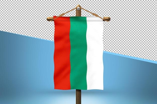 Fondo de diseño de bandera colgante de bulgaria
