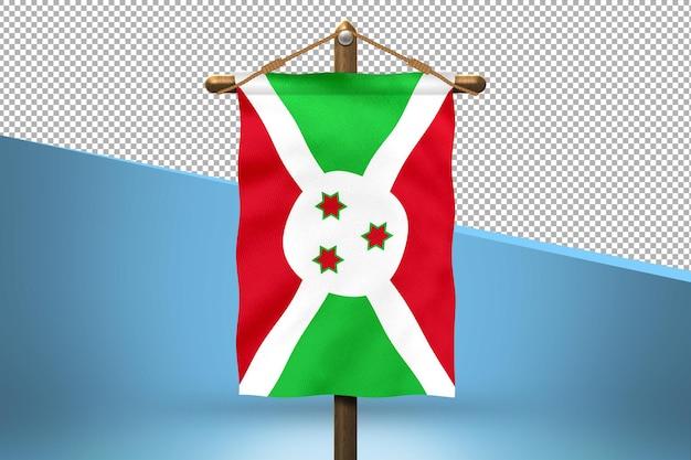 Fondo de diseño de bandera colgante de burundi