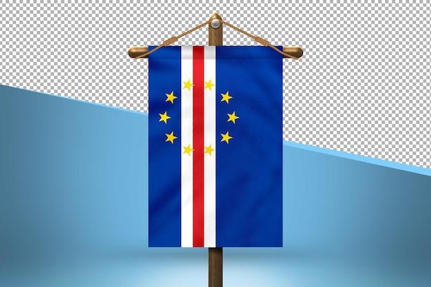Fondo de diseño de bandera colgante de cabo verde