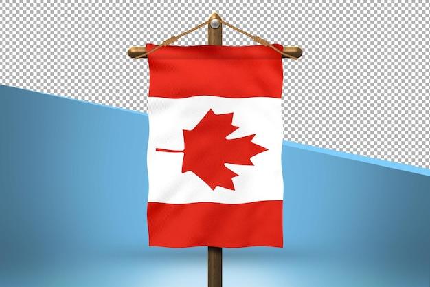 Fondo de diseño de bandera colgante de canadá