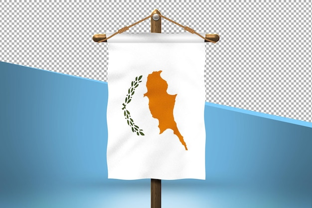 Fondo de diseño de bandera colgante de chipre