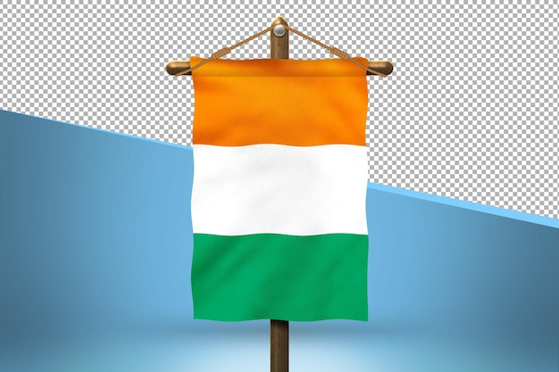 Fondo de diseño de bandera colgante de costa de marfil