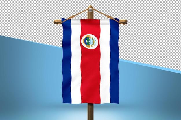 Fondo de diseño de bandera colgante de costa rica