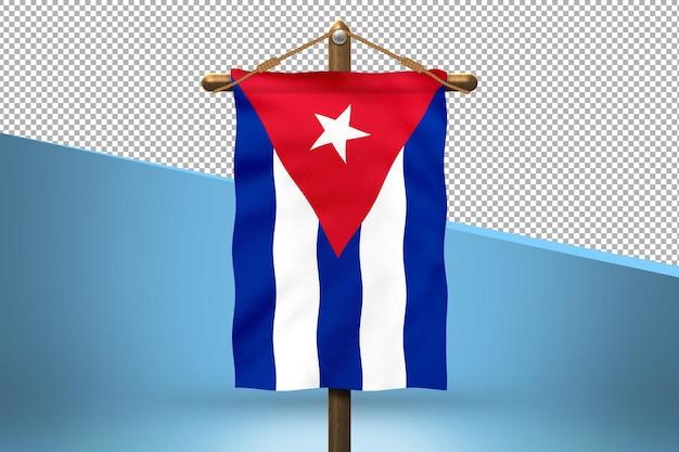 Fondo de diseño de bandera colgante de cuba