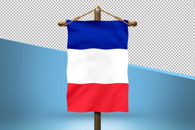 Fondo de diseño de bandera colgante de francia