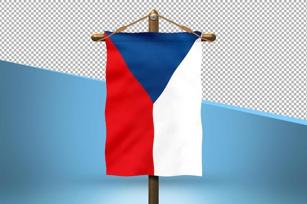 Fondo de diseño de bandera colgante de república checa