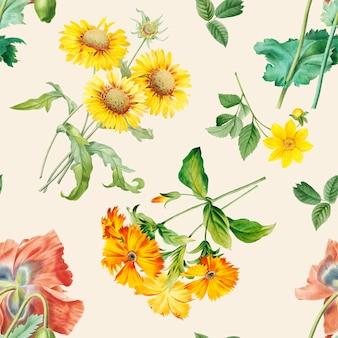 Fondo estampado floral