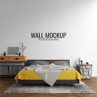 Fondo interior de la maqueta de la pared del dormitorio