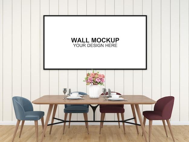 Fondo interno della mobilia del pavimento del modello della camera del salone, modello psd dello spazio della copia di progettazione minimalista