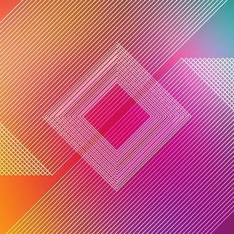 Fondo con líneas multicolores