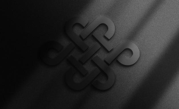 Fondo de maqueta de logotipo negro de lujo