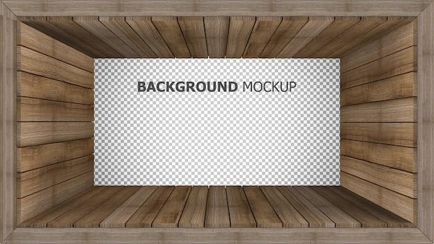 Fondo de maqueta para representación 3d de panel de madera