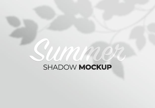 Fondo de maqueta de sombra de hojas