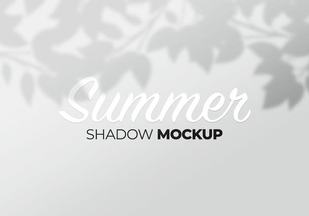 Fondo de maqueta de superposición de sombra de hojas de árbol