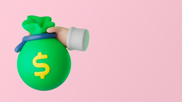Fondo de marketing empresarial 3d