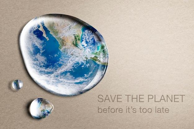 Fondo del medio ambiente, salva el planeta texto psd