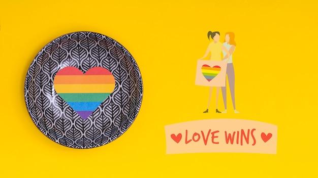 Fondo del orgullo gay con elementos