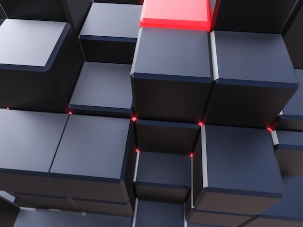 Fondo oscuro con cubos