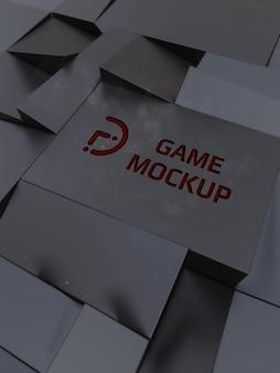 Fondo oscuro con logo del juego