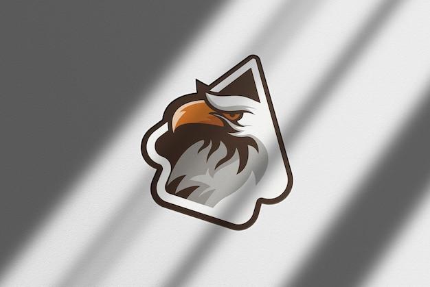 Fondo de papel de maqueta de logotipo negro de lujo