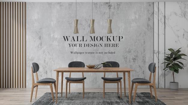 Fondo de pared en escena interior con muebles de madera