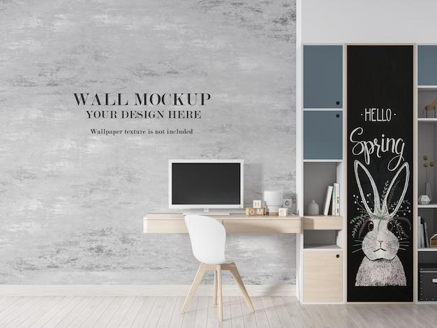 Fondo de pared de sala de estudio para su diseño