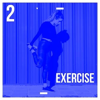 Fondo de post de instagram con concepto de ejercicio