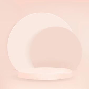 Fondo de producto mínimo de psd de podio de pantalla pastel 3d