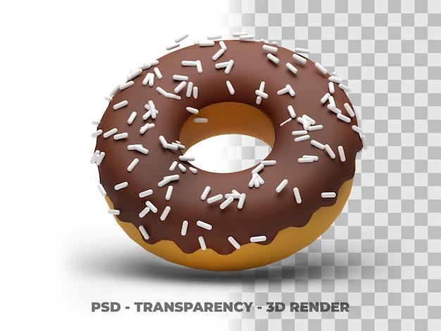 Fondo transparente 3d deliciosas donas
