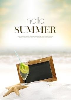 Fondo de vacaciones de verano y objeto