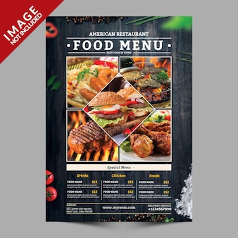 Food menu flyer mockup