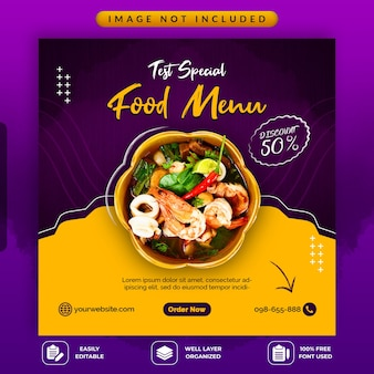 Food sale social media promotionele sjabloon
