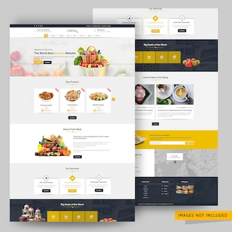 Food store web template premium psd