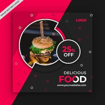 Foods sociale media post sjabloon