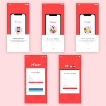 Foody mobiele app ui-kit